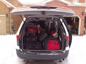 loaded hockey van