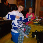 Young Leafs fan