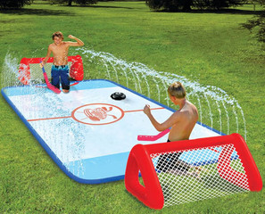 summer water hockey game