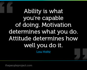 ability motivation and attitude