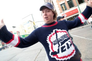 Knitted Winnipeg Jets Sweater