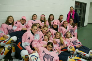 Hockey Sharks in Pink