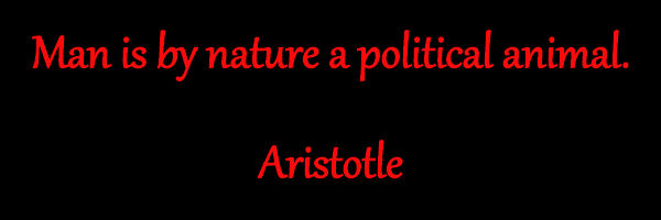 Man is a Political Animal - Aristotle